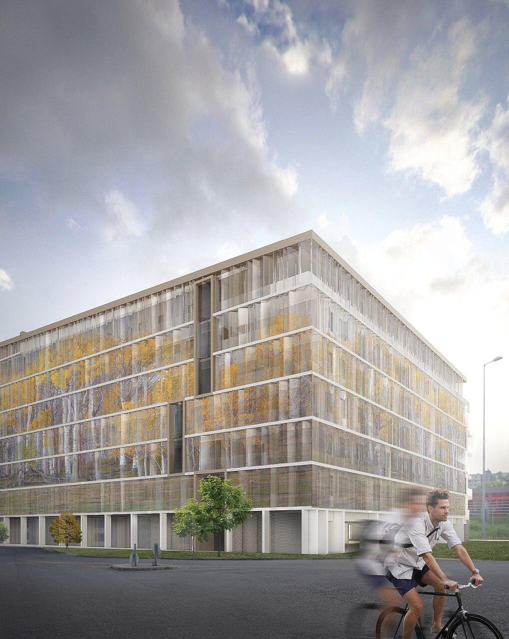 Savoya-ház homlokzat új építésű lakás, eladó lakás, új lakás